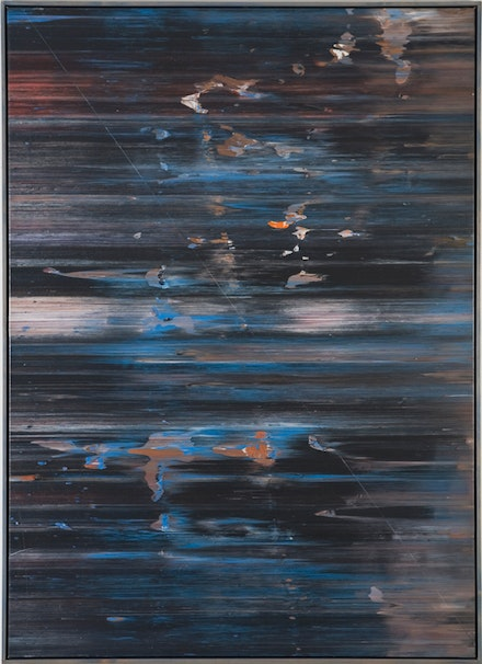 Jack Whitten, <em>April&rsquo;s Shark</em>, 1974. Acrylic on canvas, 72 x 52 inches. &copy; Jack Whitten, Courtesy the artist and Hauser &amp; Wirth.