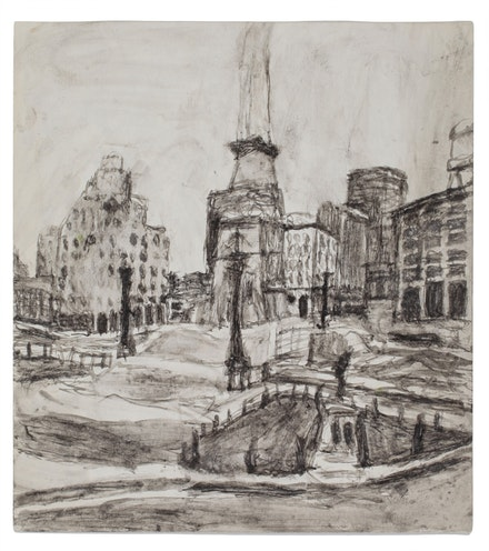 James Charles Castle, <em>Untitled (monument circle)</em>, n.d., 9 3/8 x 11 inches. © James Castle Collection and Archive LP.