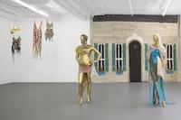 Installation view of Women's History Musuem, OTMA's Body, 2017, Gavin Brown's Enterprise. Courtesy the artists and Gavin Brown's enterprise, New York, Rome. Photo: Lance Brewer