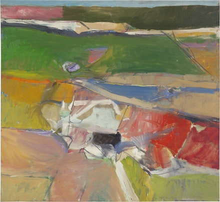 Richard Diebenkorn, <i>Berkley #44</i>, 1955. Oil on canvas, 59 x 64 inches. Private Collection © The Richard Diebenkorn Foundation