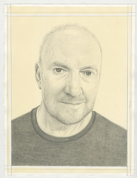 Portrait of Sean Scully, pencil on paper, by Phong Bui