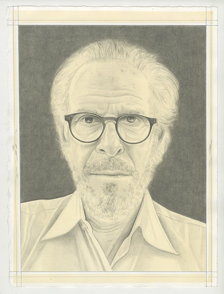 Portrait of Stephen Shore, pencil on paper, by Phong Bui