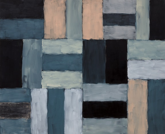 Sean Scully, <em>Wall of Light Desert Night</em>, 1999. Oil on linen, 108 x 132 inches. The Modern Art Museum of Fort Worth, museum purchase.
