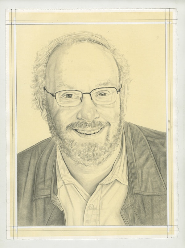 Portrait of Jonathan Fineberg, pencil on paper by Phong Bui.