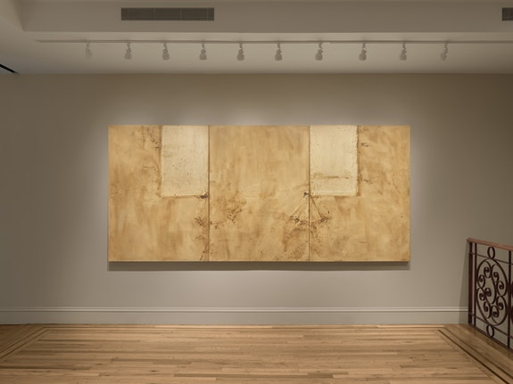 Installation view of <em>Robert Moskowitz: Window Shades, 1959-62</em>. Courtesy Craig F. Starr Gallery