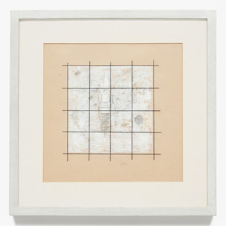 Robert Ryman, <em>Yellow Drawing #4, </em> 1963. Charcoal, graphite, and pastel on yellow paper, 13