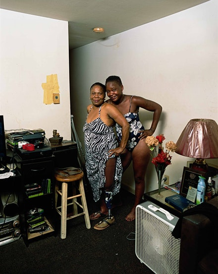 Deana Lawson, <em>Barbara and Mother</em>, 2017. Pigment print, 70.625 x 56.25 inches framed. Courtesy Sikkema Jenkins & Co.