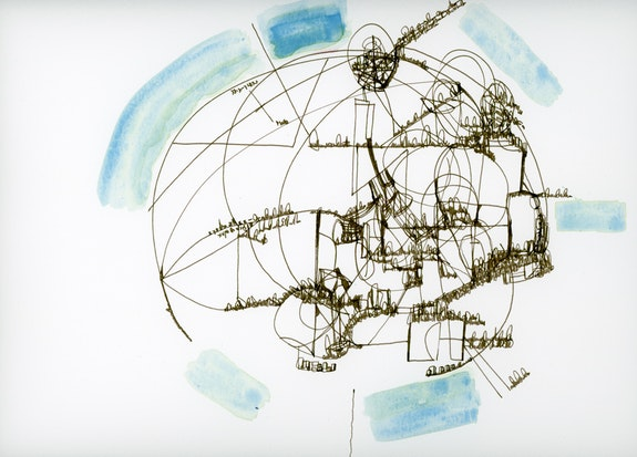 Renee Gladman, <em>Territories of the Poem</em>, 2017-2018, ink and gouache on paper, 11 x 14 inches. Courtesy the artist.