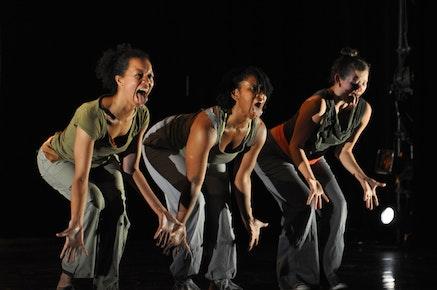 Gesel Mason, Mecca Madyun, Erinn Liebhard performing Rennie Harris's <em>You Are Why!</em> Credit: James Forsberg
