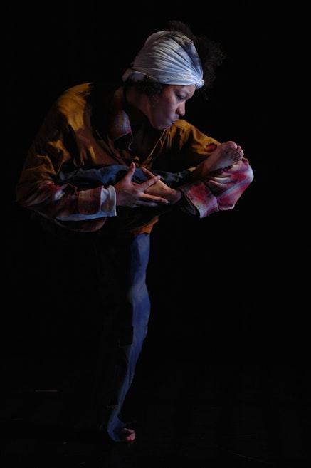 <p>Gesel Mason performing Donald McKayle's <em>Saturday&rsquo;s Child</em></p> Credit: Enoch Chan