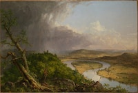 Thomas Cole, <em>View from Mount Holyoke, Northampton, Massachusetts, after a Thunderstorm—The Oxbow</em>, 1836. Oil on canvas, 51 1/2 x 76 in. The Metropolitan Museum of Art, New York, Gift of Mrs. Russell Sage, 1908. © The Metropolitan Museum of Art.
