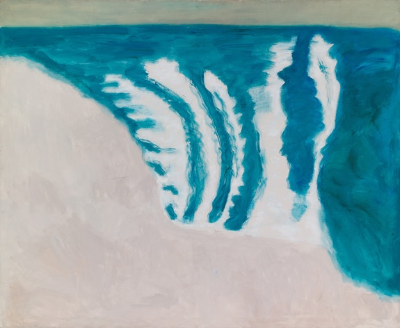 Milton Avery, <em>Rolling Surf</em>, 1958. Oil on canvas, 54 x 66 inches. Courtesy Yares Art. &copy; Milton and Sally Avery Arts Foundation.