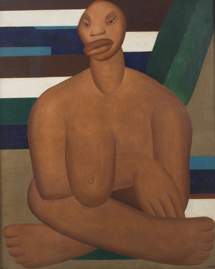 <p>Tarsila do Amaral,<em> A Negra</em>, 1923. Oil on canvas, 39 3/8 x 32 inches. © Tarsila do Amaral Licenciamentos.</p>