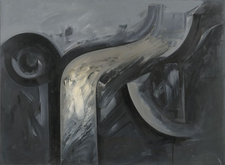Jay DeFeo, <em>Bride</em>, 1986, Oil on paper mounted on canvas, 59 1/4 by 80 1/2 inches. Courtesy Mitchell-Innes & Nash