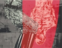 Leon Golub, <em>Interrogation</em>, 1992. Screenprint, 26 × 26 in. (66 × 66 cm)<br /> image: 17 × 22 in. (43.2 × 55.9 cm). The Metropolitan Museum of Art, New York, Intended Gift of Jon Bird, 2017. © The Nancy Spero and Leon Golub Foundation for the Arts/Licensed by VAGA, New York, NY.