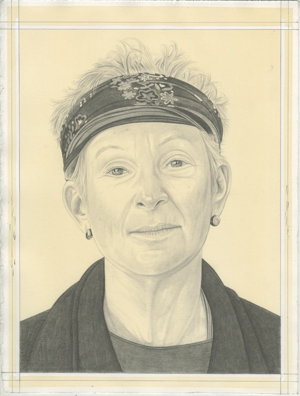 Portrait of Ann Lauterbach, pencil on paper by Phong Bui.