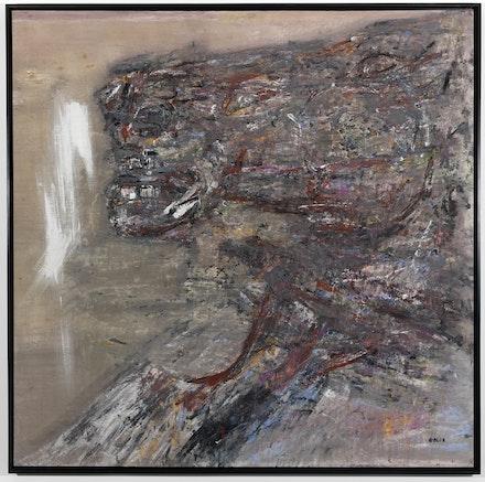 Leon Golub, <em>Tete De Cheval II</em>, 1963. Acrylic on canvas, 81 3/4 x 81 3/4 inches. The Estate of Leon Golub, courtesy of Hauser and Wirth