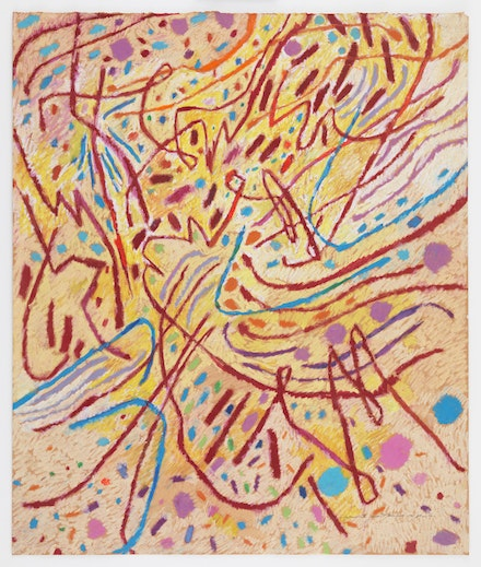 Mildred Thompson, Hysteresis III, 1991. Pastel on paper, 30 x 22 inches. © The Mildred Thompson Estate Courtesy Galerie Lelong & Co., New York