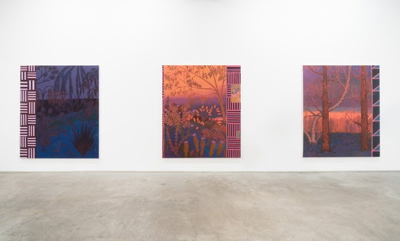 John McAllister, <em>cymbals of sleep uncurtain the night</em>, installation view. Courtesy James Fuentes.