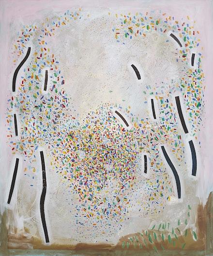<p>Jennifer Coates<em>, Meadow</em>, 2017. Acrylic on canvas, 72 x 60 inches. Courtesy Freight + Volume Gallery.</p>