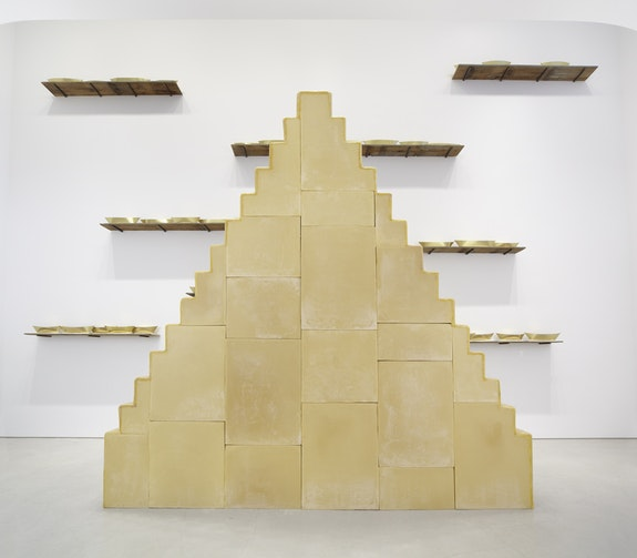 Wolfgang Laib, <em>Without Beginning and Without End</em>, 2005. Beeswax, wooden understructure, 173 1/4 x 37 3/8 x 167 5/8 inches. Courtesy the Artist and Sperone Westwater, New York.