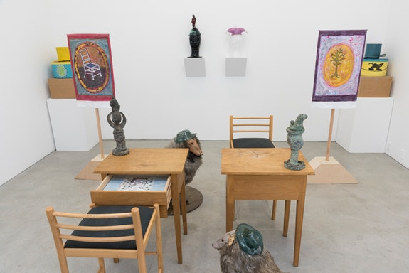 Robin Winters, <em>The Thrum and The Thrall</em>, installation view, 2018. Courtesy the artist and Marlborough Contemporary, New York and London.