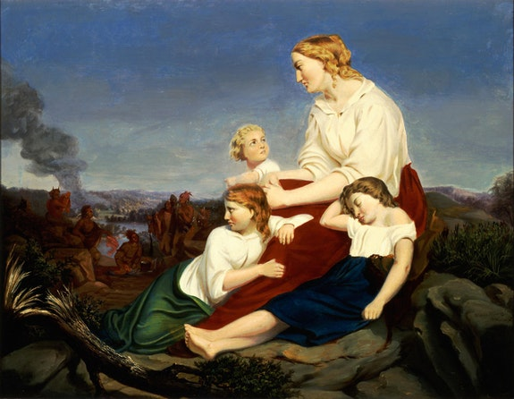 Trevor McClurg, <em>Family, taken captive by the Indians</em>, c. 1849. Oil on canvas. Carnegie Museum of Art.