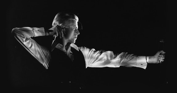 John Robert Rowlands, <em>The Archer</em>, Station to Station tour, 1976. Photo © John Robert Rowlands.