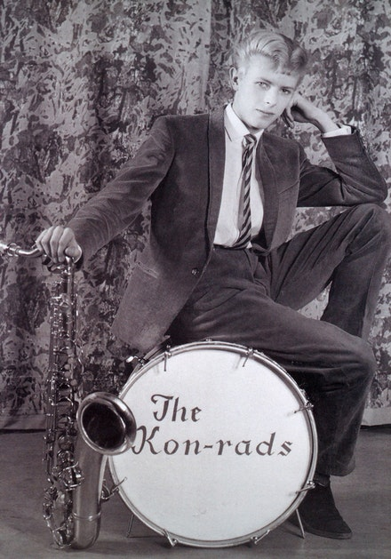 Roy Ainsworth, Publicity photograph for The Kon-rads, 1963. Courtesy The David Bowie Archive. Image © Victoria and Albert Museum.