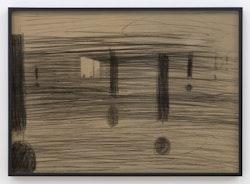 <p>Wojciech Bakowski, Passing Someone's Evening, 2016. Pencil on board, tinted glass, 19 5/8 &times; 27 1/2 inches. Courtesy the artist and Bureau, New York. Photo: Dario Lasagni.</p>
