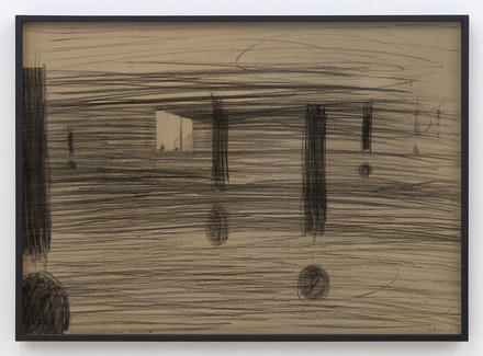 <p>Wojciech Bakowski, Passing Someone's Evening, 2016. Pencil on board, tinted glass, 19 5/8 × 27 1/2 inches. Courtesy the artist and Bureau, New York. Photo: Dario Lasagni.</p>