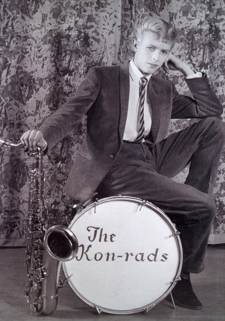 Publicity photograph for The Kon-rads, 1963. Photograph by Roy Ainsworth. Courtesy of The David Bowie Archive. Image © Victoria and Albert Museum