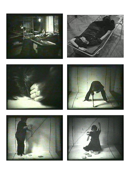 Geta Brătescu, Atelierul (The Studio), 1978. 8mm-film transferred onto DVD, 4:3, no sound, black and white, 17:45 min. Camera: Ion Grigorescu © Geta Brătescu. Courtesy the artist and Hauser & Wirth.