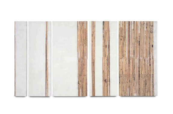 Melissa Kretschmer, <em>Crosscurrent</em>, 2015. Vellum, gesso, gouache, and plywood, 87.6 x 167.6 cm. Courtesy Roberto Polo Gallery.