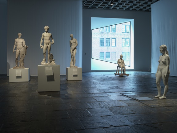 Installation view of <em>Like Life: Sculpture, Color, and the Body (1300 &ndash; Now)</em>, The Met Breuer, 2018.