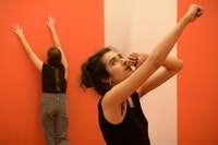<em>Private Collection</em>, 2018. Performance. Left to right: Lauren Bakst & Chanterelle Ribes. Photo: Ian Douglas.