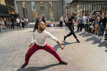 Roderick George and Josh Johnson; choreography by William Forsythe. Photo: Stephanie Berger/The Shed