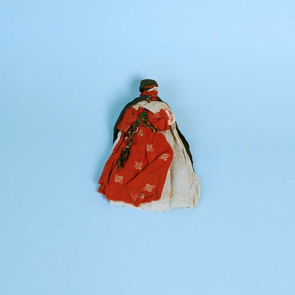 Yto Barrada, Untitled (North African Toys, Musée du quai Branly, Mission Dakar-Dijbouti, Mission, Mission Charles le Coeur Paris, Mission Thérèse Rivière; c. 1930s), 2014-2015. Archival pigment print, 23 5/8 x 23 5/8 inches. Courtesy Pace Gallery.