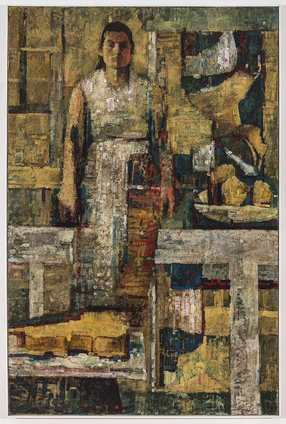 Rosemarie Beck, Self Portrait, oil on linen, 58x40 inches, 1958. Courtesy of the Rosemarie Beck Foundation