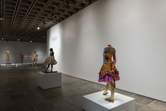 Installation view, <em>Like Life Sculpture, Color, and the Body 1300-Now</em> at The Met Breuer, 2018. Courtesy The Metropolitan Museum of Art.