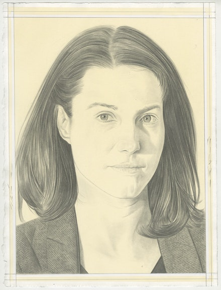 Portrait of Choghakate Kazarian, pencil on paper by Phong Bui.