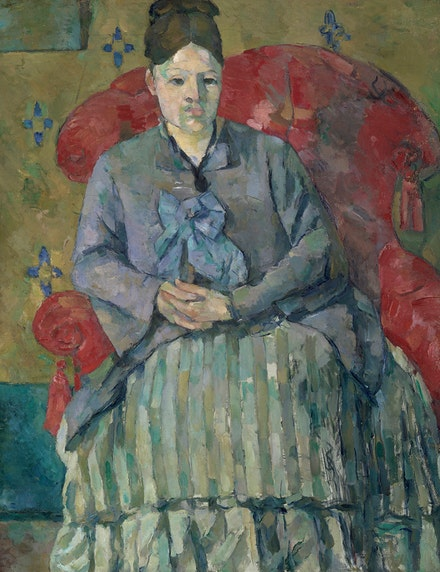 <p>Paul Cézanne, <em>Madame Cézanne in a Red Armchair</em>, 1877. Oil on canvas, 28 1/2 x 22 inches. Museum of Fine Arts, Boston, Bequest of Robert Treat Paine, 2nd.<sup> </sup>Photo: © 2017 Museum of Fine Arts, Boston.</p>