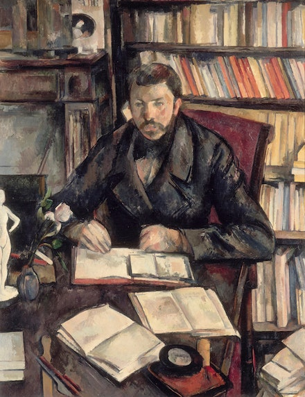 <p>Paul Cézanne, Gustave Geffroy, 1895–1896. Oil on canvas, 46 1/16 x 35 1/4 inches. Musée d'Orsay, Paris, gift of the Pellerin family, 1969. Photo: © RMN-Grand Palais (Musée d'Orsay) / Hervé Lewandowski.</p>