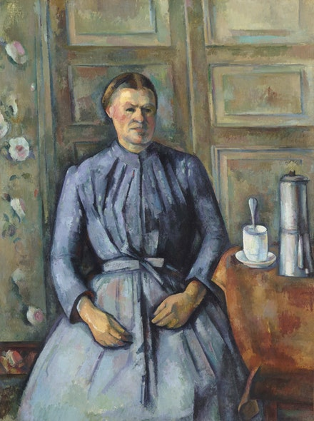 <p>Paul Cézanne, <em>Woman with a Cafetière</em>, 1890–1895. Oil on canvas, 51 3/16 x 38 3/16 inches. Musée d'Orsay, Paris, gift of Mr. and Mrs. Jean-Victor Pellerin, 1956. Photo: © RMN-Grand Palais (Musée d'Orsay) / Hervé Lewandowski.</p>