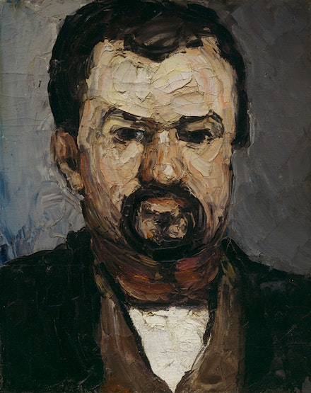 Paul Cézanne, <em>Uncle Dominique</em>, c. 1866. Oil on canvas, 15 7/8 x 12 3/8 inches. Private Collection. Photo: © 2017 Museum of Fine Arts, Boston.