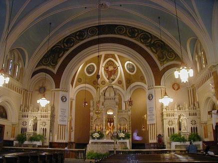 <em>Interior of St. Cecilia's Roman Catholic Church</em>. Image John B. Lowe, 2001.