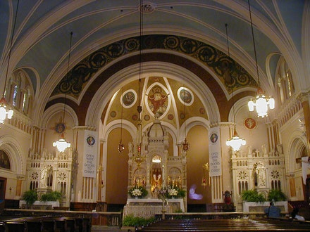 <em>Interior of St. Cecilia's Roman Catholic Church</em>. Image John B. Lowe, 2001.