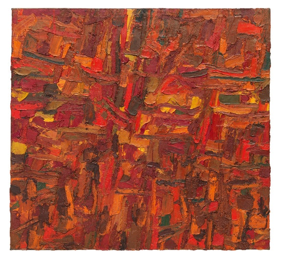 Al Held, <em>Untitled</em>, 1953. Oil on canvas, 50 x 54 inches. Courtesy of the Al Held Foundation. Inc., Nathalie Karg Gallery and Cheim & Read New York / Licensed by Artists Rights Society (ARS) New York.