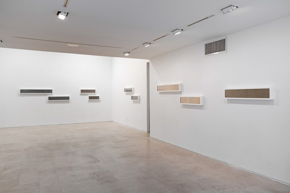 Installation view, Liz Deschenes: <em>Rates (Frames per Second)</em>, Miguel Abreu Gallery, New York, 2018. Courtesy the artist and Miguel Abreu Gallery, New York. Photo: Adam Reich