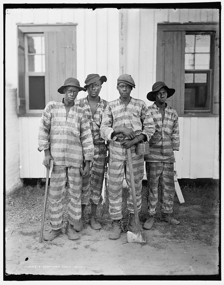 A Southern Chain Gang (created between 1900 – 1906), Detroit Publishing Co.